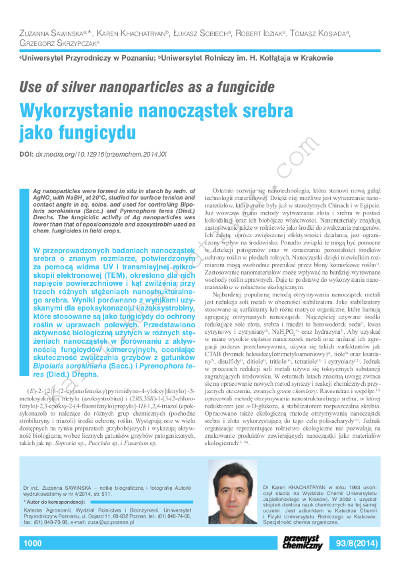 Khachatryan - Use of silver nanoparticles